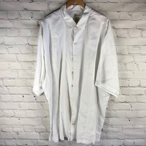 Tommy Bahama White Linen 3X Button Down Shirt